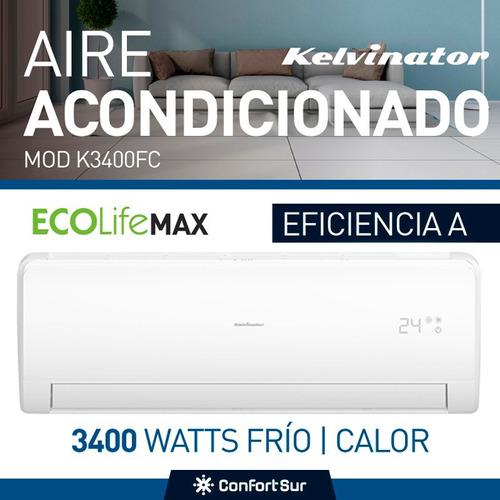 aire acondicionado split kelvinator 3400w frio calor **10