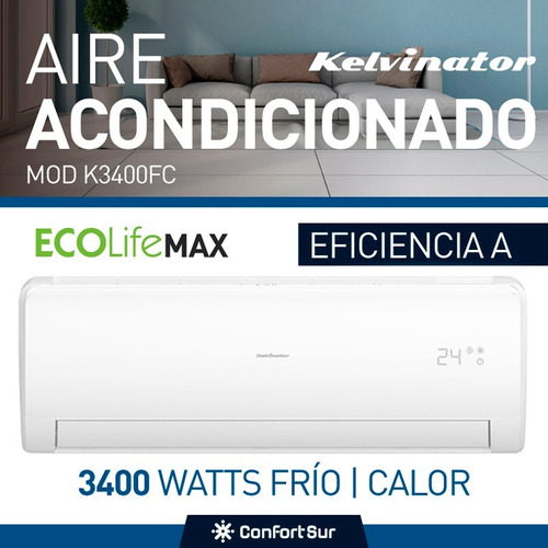 aire acondicionado split kelvinator 3400w frio calor *8
