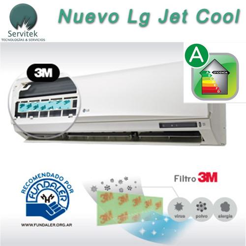 aire acondicionado split lg jet cool 3000 f/c clase a