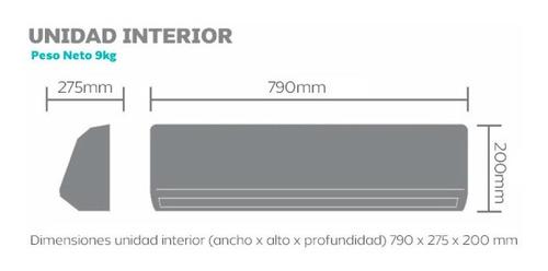 aire acondicionado split philco 2600w phs25ca1an pc