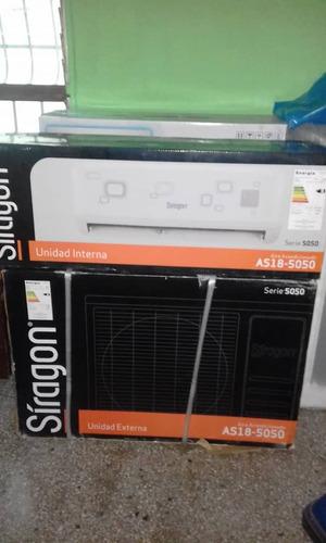 aire acondicionado split siragon 18.000 btu.