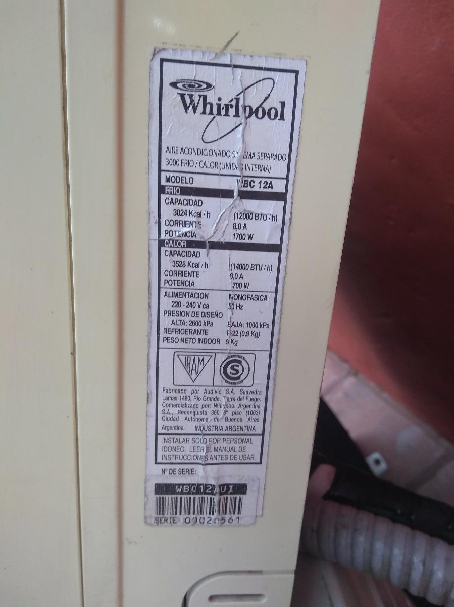 aire acondicionado whirpool 3000 frigorias frio calor. Cargando zoom.