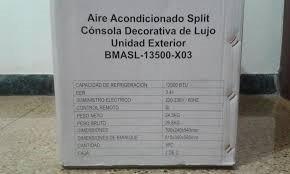 aire acondicionao split 12000btu