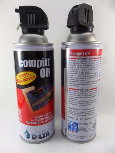 aire comprimido aerosol removedor particulas compitt 450g