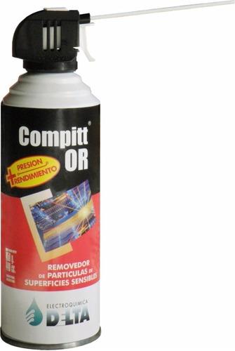 aire comprimido compitt 440 cc / 450 gr - combo 6 unidades