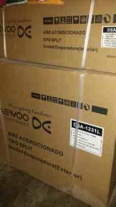 aire daewoo tipo split de 12000btu 220v nuevo caja factura