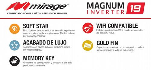 aire minisplit inverter 220v mirage 1 ton 12000 bt 19 seer