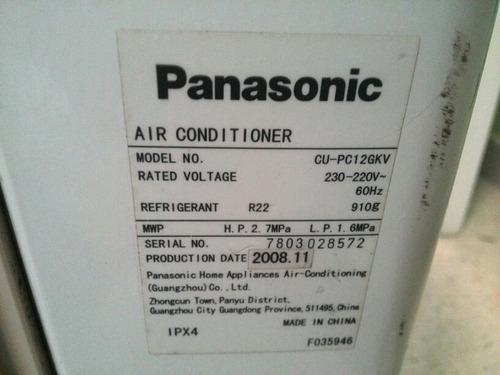 aire split panasonic 12000 btu nuevo! 220v