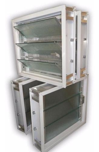 aireador ventiluz 40x26 movimiento reforzado de aluminio
