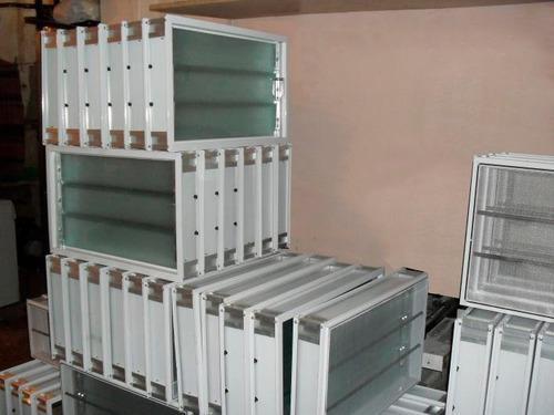 aireador ventiluz aluminio 40x26cm c/mosquitero