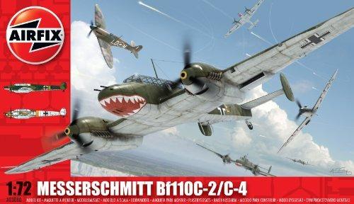 airfix a03080 messerschmitt bf110c / d 172 escala de avione