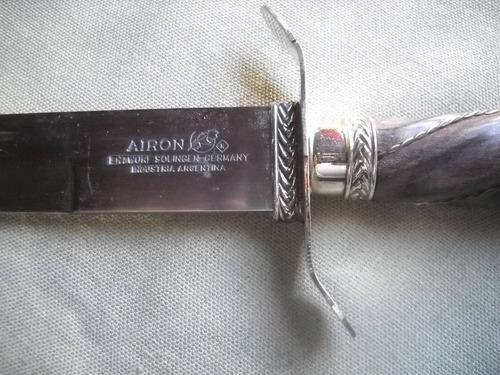 airon solingen daga hoja 25 cms acero carbono cuchillo facón