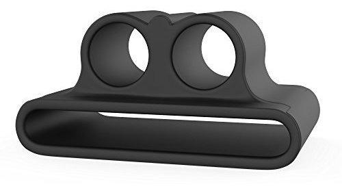 airpod anillador y pieles paquete negro mate