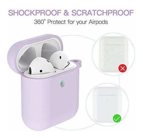 airpods - funda protectora de silicona con llavero de pompó
