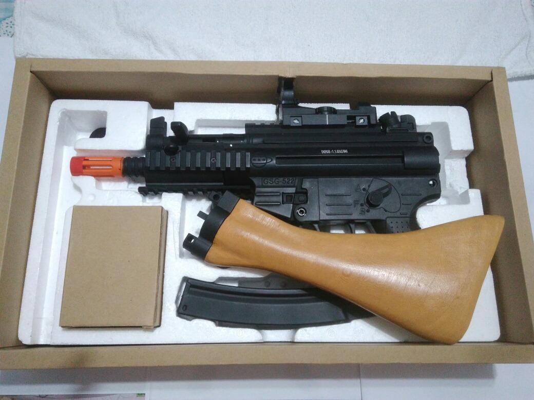 Airsoft - Aeg - Gsg 522 Pk Com Stock Real Wood + Red Dot - R  950 f3a9d383f875b