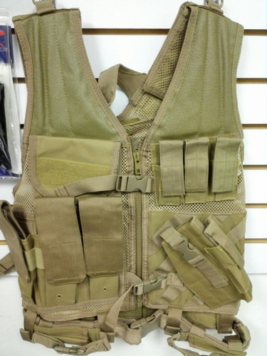 airsoft chaleco tactico ncstar tan