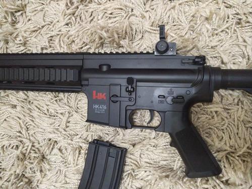 airsoft hk 416 cqb rifle elétrico bivolt umarex