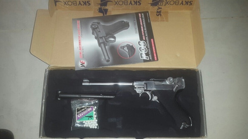 airsoft luger p08 a gas cromada