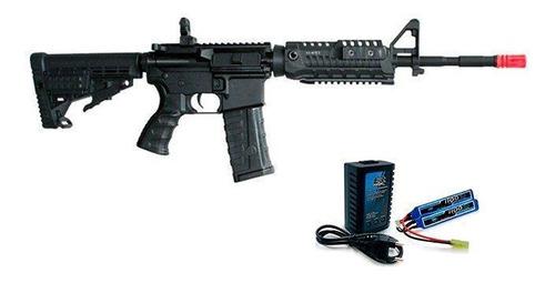 airsoft m4a1 caa custom + kit bateria e carregador