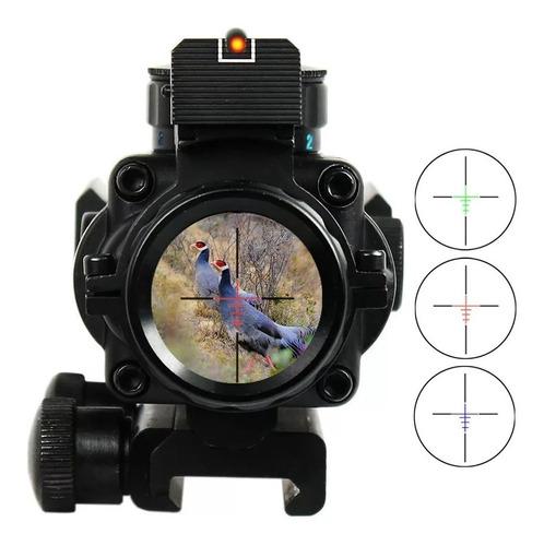 airsoft, mira reflex acog 4x32 para montura 20 mm