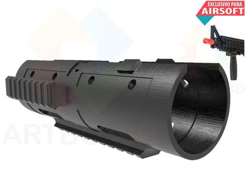 airsoft mp5 handguard grip guarda trilho triplo 7 polegadas