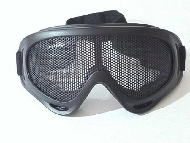ee299517b23e9 Airsoft Óculos De Proteção Telado Grande Preto - R  65,00 em Mercado Livre