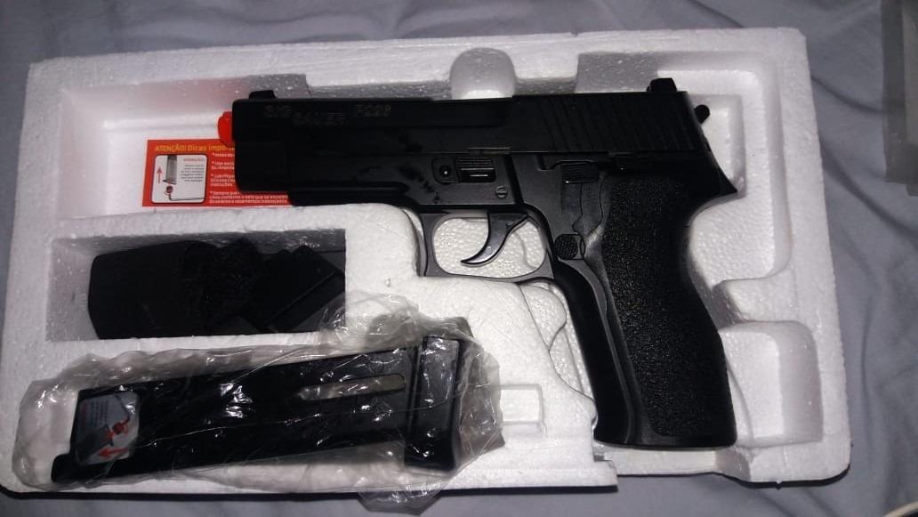 f2c7e3036b2 Airsoft Pistola Sig Sauer P226 Gbb Co2 Blowblack - R  1.500