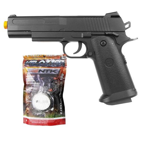 airsoft pistola vg 1911-v18 metal mola 6mm + esferas bbs