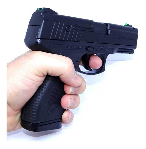 airsoft pistola wingun w24/7 6mm + estojo + bbs