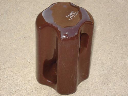 aislador de ceramica para alta tension y/o torre de radio.
