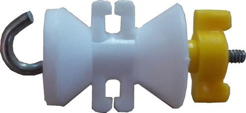aislador movil con gancho x 50 unid, p/ boyero eléctrico