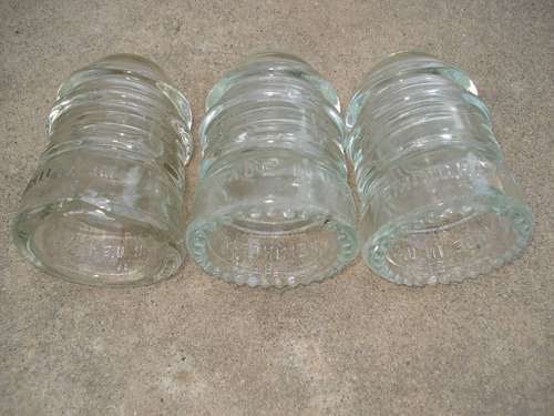 aislador tipo espiga de vidrio