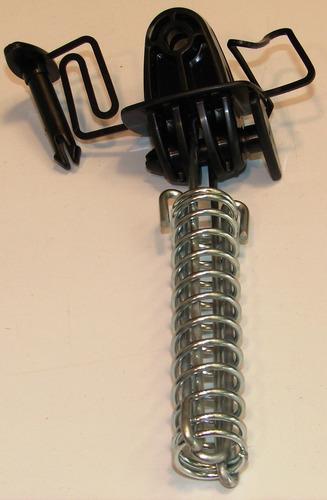 aislador y resorte p/ tenzar alambrados cercos electricos