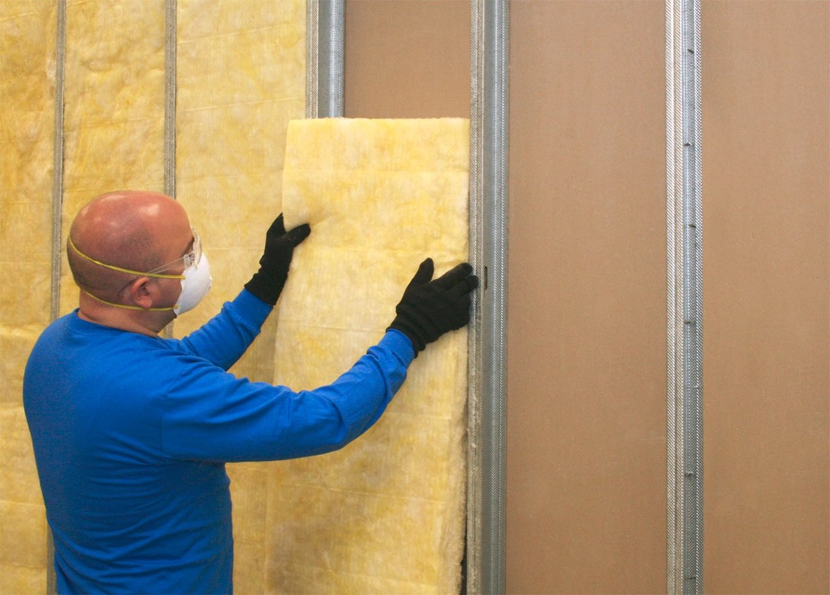 Aislamiento termico acustico fibra de vidrio 2 amarilla for Aislamiento acustico vidrio