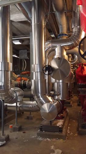 aislamiento térmico, en aluminio y poliuretano inyectado