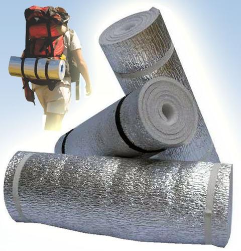 aislante termico aluminizado 1 cm espesor para bolsa dormir