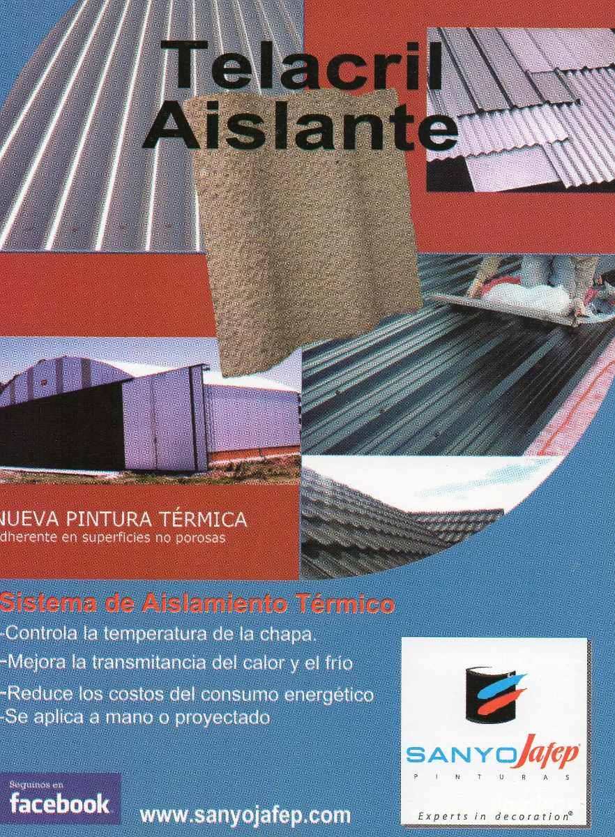 aislante térmico para techos de chapas sanyojafep x20 litros
