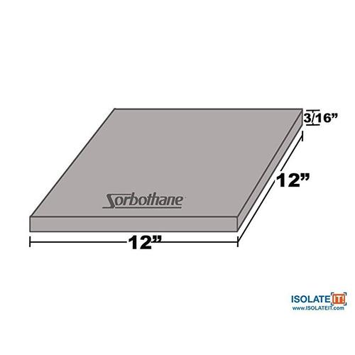 aislarlo !: hoja de sorbothane stock 70 duro (3 / 16x 12 x 1