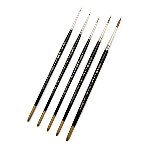 ait art premium detail brush set,  pinceles de sable s...