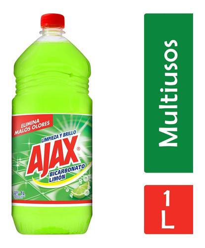 ajax bicarbonato liquido, limon multiusos, 1 l