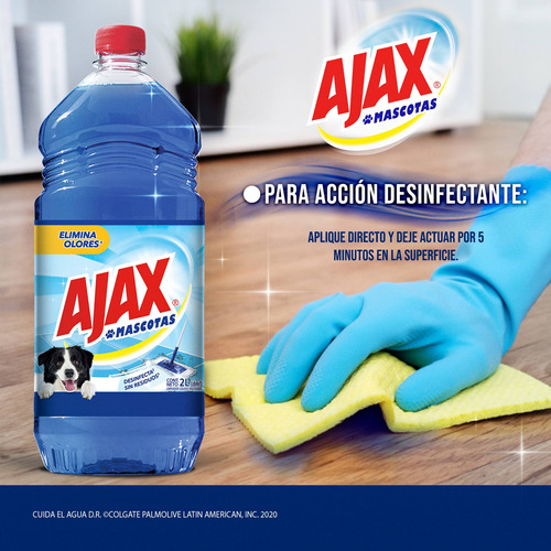 ajax mascotas limpiador líquido 2l