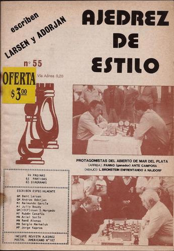 ajedrez de estilo  nº 55  ( incluye el nº107 ajedrez postal)