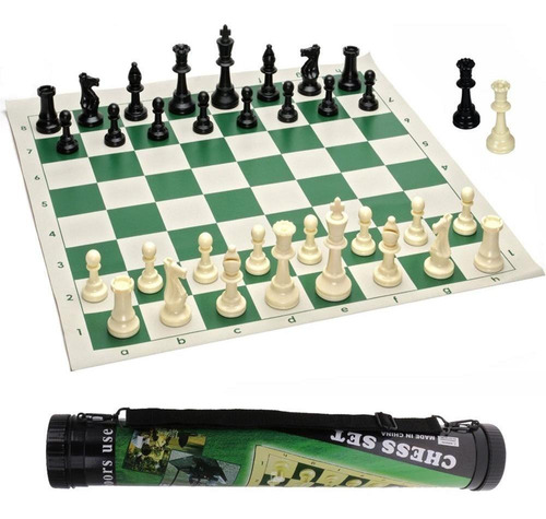 ajedrez enrollable profesional tamaño oficial