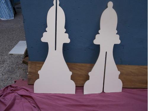 ajedrez gigante con encastre transportable - rey de 89 cm