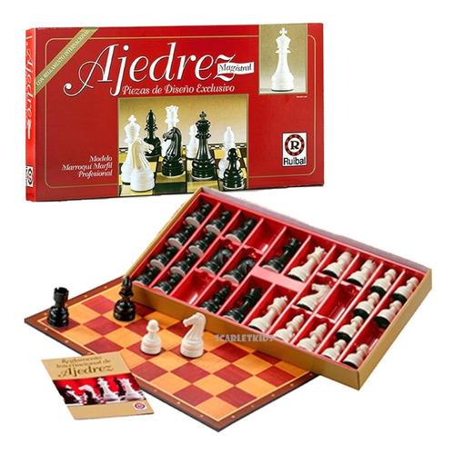 ajedrez magistral diseño exclusivo con reglamento