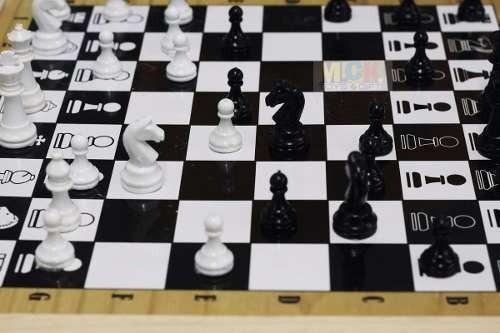 ajedrez magnetico grande doble cara ajedrez y parques 6 pues