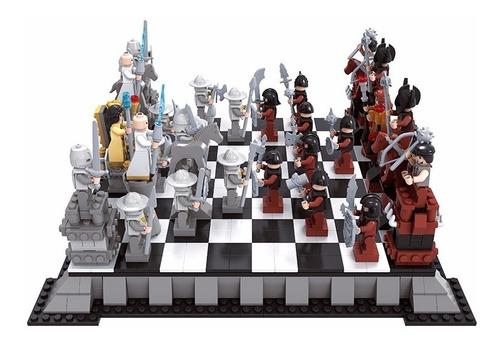 ajedrez medieval juego mesa armotodo compatible lego 27907