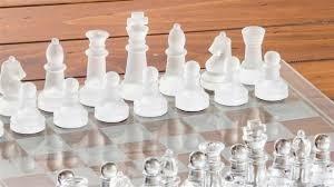 ajedrez vidrio 25 cms x 25 cms