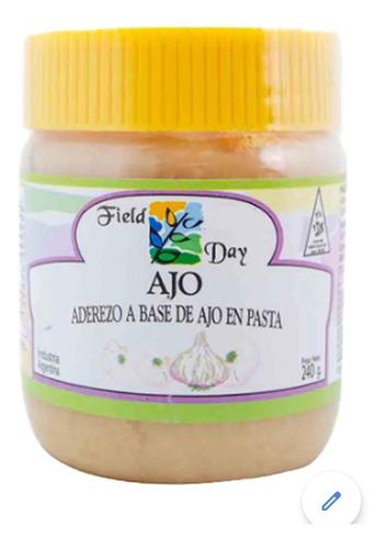 ajo en pasta, field day.  frasco 240 gr.  superv. ak
