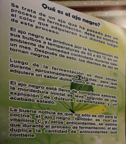 ajo negro antioxidante (9 cabezas de ajo grandes)